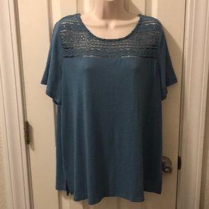 OLD NAVY lace yoke blouse